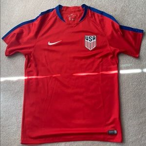 Nike USA men's training dri fit top.